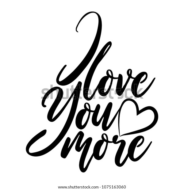 Download Love You More Vector Typography Handwriting Stock Vector ...