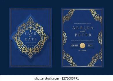 https www shutterstock com image vector luxury hindu wedding invitation card indian 1272005791