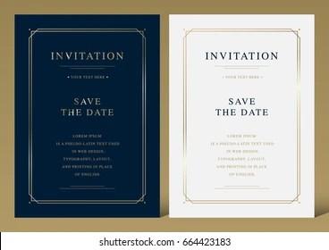 https www shutterstock com image vector luxury vintage golden vector invitation card 664423183
