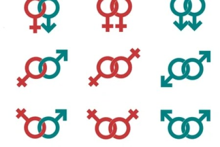 Interior Symbols For Male And Female Electronic Wallpaper