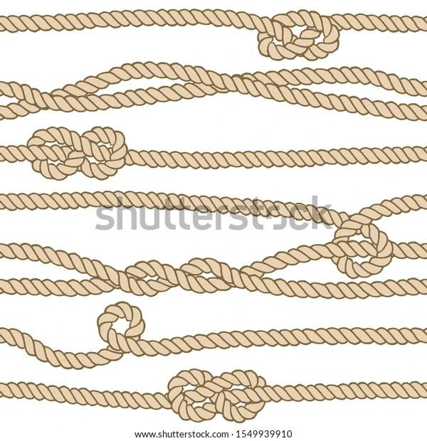 Image Vectorielle De Stock De Motif Harmonieux De Corde Marine Illustration 1549939910