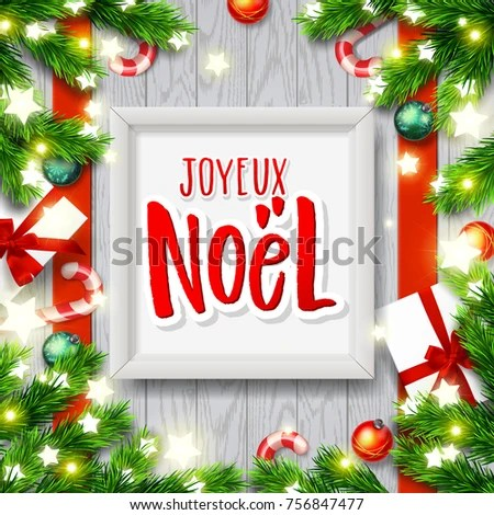 merry christmas greeting card greetings french stock vector royalty