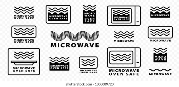 https www shutterstock com image vector microwaves flat linear icons set symbol 1808089720