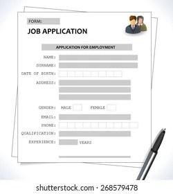 Minimalist Cv Resume Template Job Application Stock Vector Royalty Free 268579478