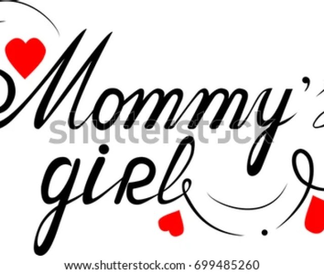 Mommys Girl Hand Lettering To Print On Babies Clothes Nursery Decorations Bags