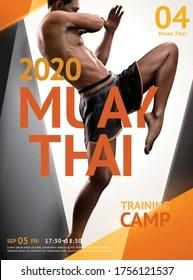 https www shutterstock com image vector muay thai training camp poster design 1756121537