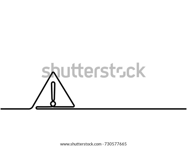 https www shutterstock com fr image vector one continuous line drawing hazard warning 730577665