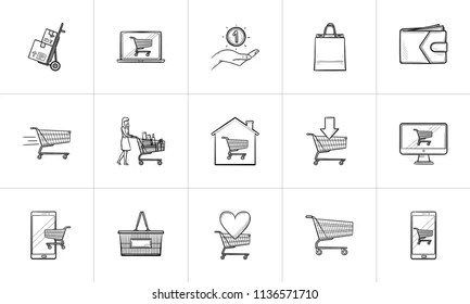 Hand Drawn Icons Shopping Images Stock Photos Vectors