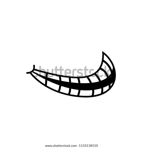 Open Mouth Teeth Troll Face Meme Stock Vector Royalty Free