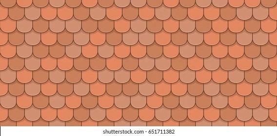 https www shutterstock com image vector orange roof tiles seamless pattern 651711382