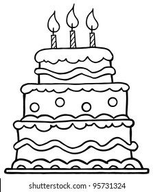 Sketch Birthday Cake Images Stock Photos Vectors Shutterstock