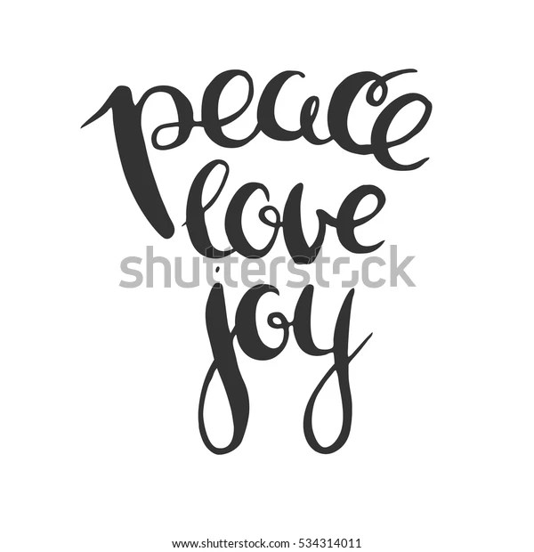 Download Peace Love Joy Vector Lettering Isolated Stock Vector ...