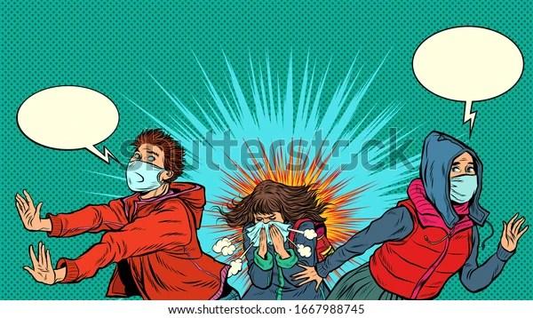 People Afraid Epidemic Pandemic Epidemic Coronavirus Stock Vector (Royalty Free) 1667988745