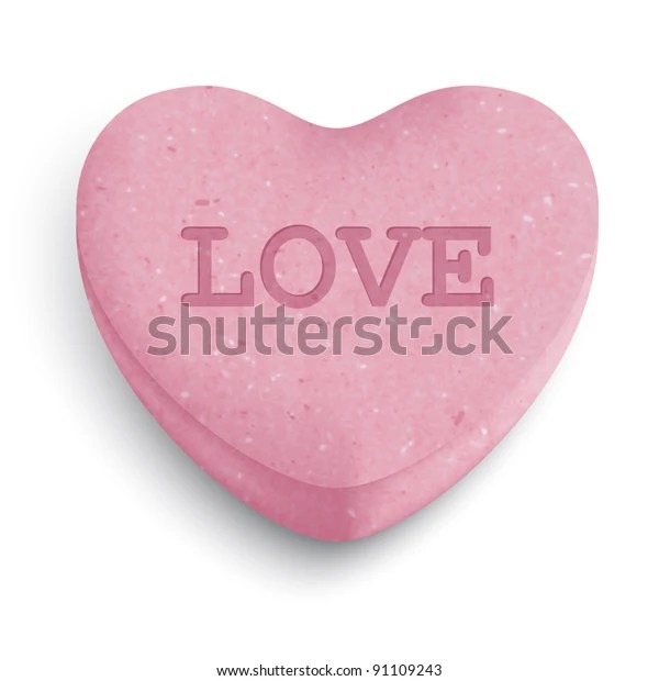 Download Pink Sugar Heart Candy Love Word Stock Vector (Royalty ...