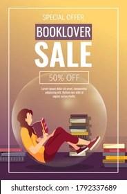 https www shutterstock com image vector promo sale flyer design bookstore bookshop 1792337689