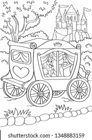 coloring pages kids fairy tale king queen # 58