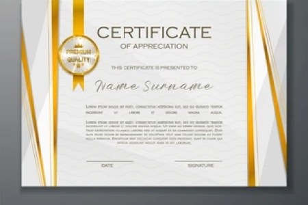 Certificate Of Appreciation Images  Stock Photos   Vectors     Qualification Certificate of appreciation design  Elegant luxury and modern  pattern  best quality award template