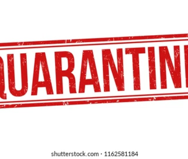 Quarantine Sign Or Stamp On White Background Vector
