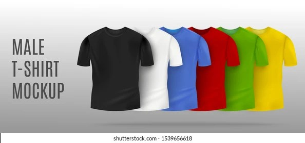 Download Realistic Tee Mockup Yellowimages