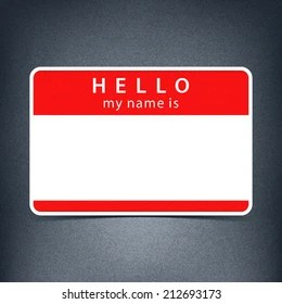 Hello My Name Is Images Stock Photos Vectors Shutterstock