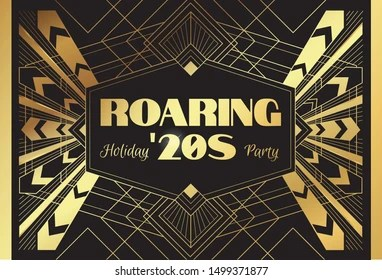 roaring 20s holiday party template card