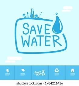 https www shutterstock com image vector save water vector concept start saving 1784211416