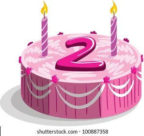 2nd Birthday Cake Images Stock Photos Vectors Shutterstock