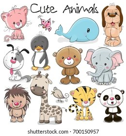Cute Animals Cartoon Images Stock Photos Vectors Shutterstock