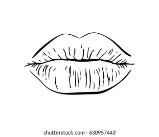 Drawn Lips Outline Images Stock Photos Amp Vectors