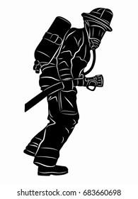fireman silhouette clip art # 17