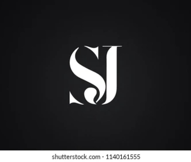 Sj Letter Logo Design Template Vector