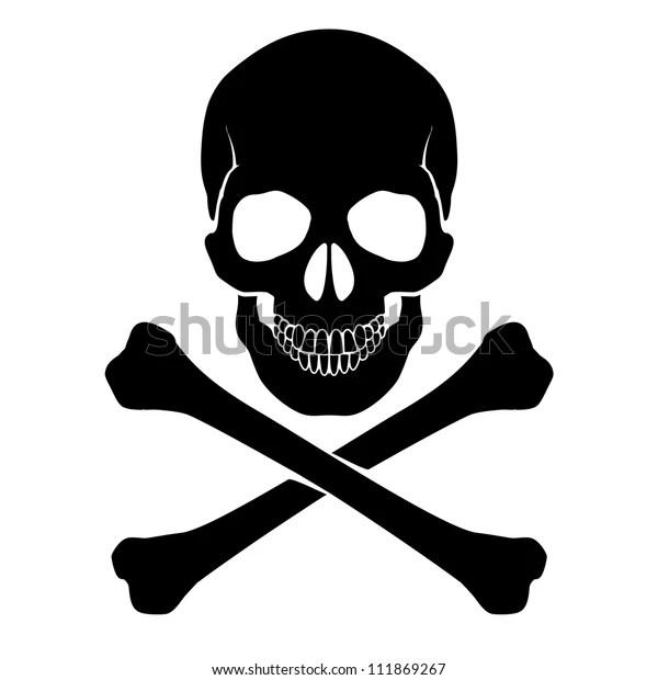Skull Crossbones Mark Danger Warning Stock Vector Royalty Free 111869267