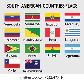 South American Flags Images Stock Photos Vectors Shutterstock