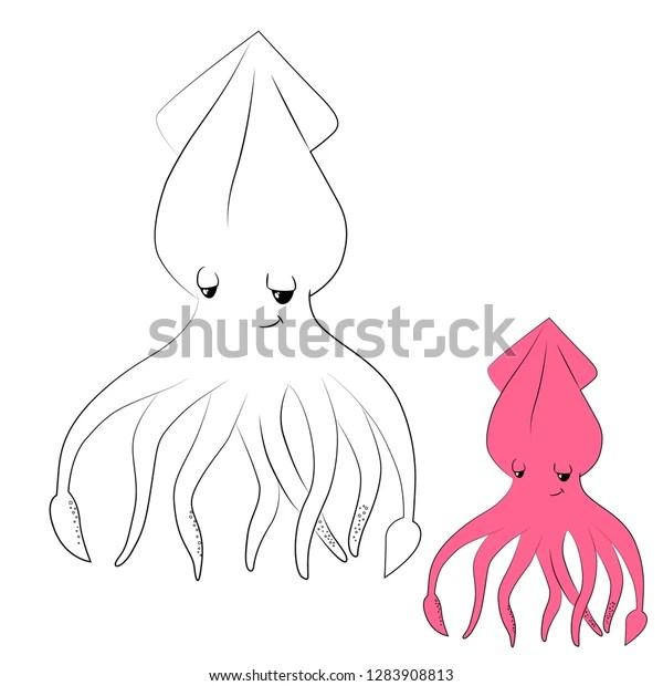 squid coloring # 10