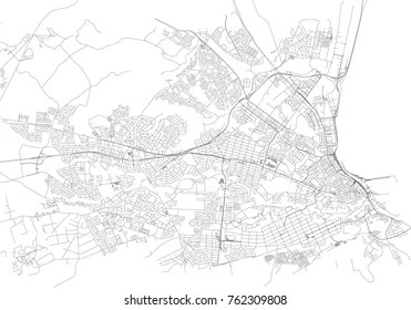 New York City Map Streets Usa Stock Vector  Royalty Free  490883626     Streets of Port Elizabeth  city map  South Africa  Street map