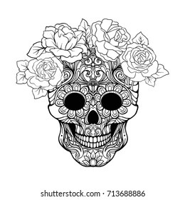 Skull Coloring Page Images Stock Photos Vectors Shutterstock