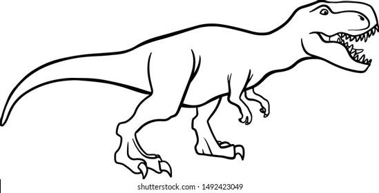 T Rex Dinosaur Outline Images Stock Photos Vectors Shutterstock