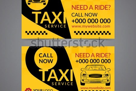 Taxi Pickup Service Business Card Layout Stock Vector  Royalty Free     Taxi pickup service business card layout template  Create your own business  cards  Mockup Vector