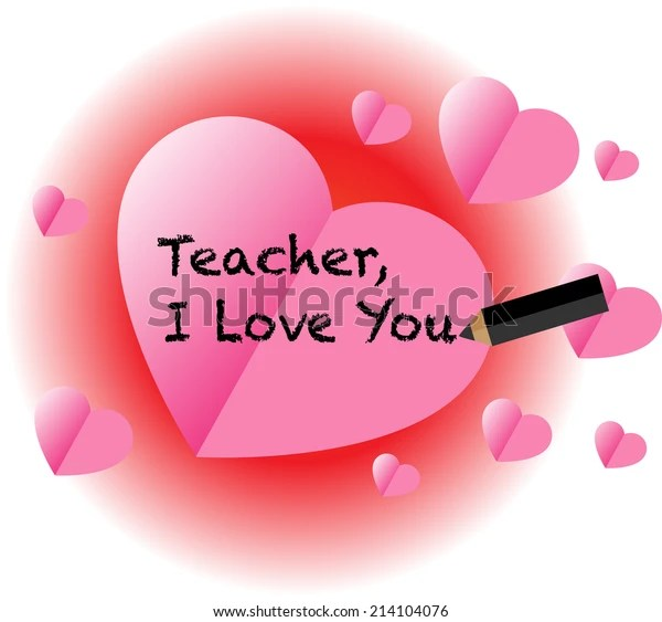 Download Teacher Love You Stock Vector (Royalty Free) 214104076
