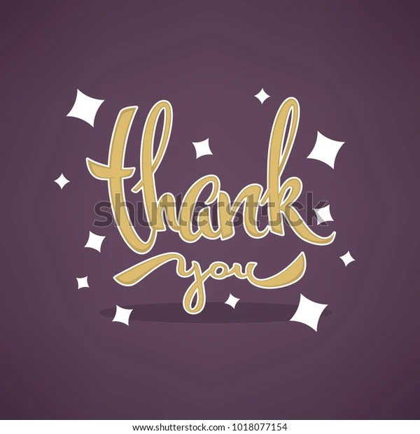 Thank You Lettering Vector Template Designs Stock Image