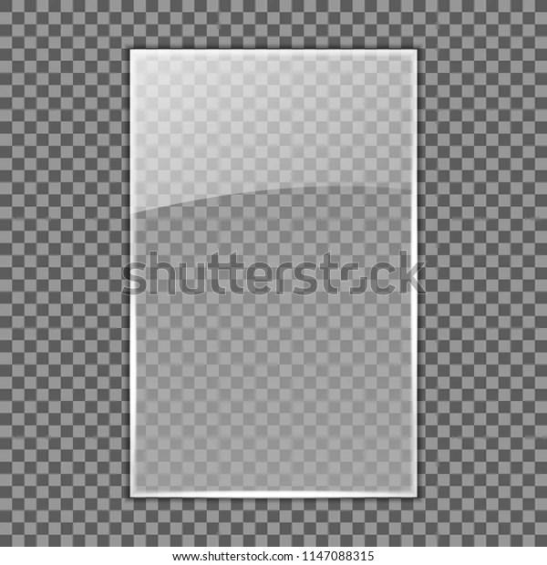 https www shutterstock com fr image vector transparent glass plate template acrylic mockup 1147088315