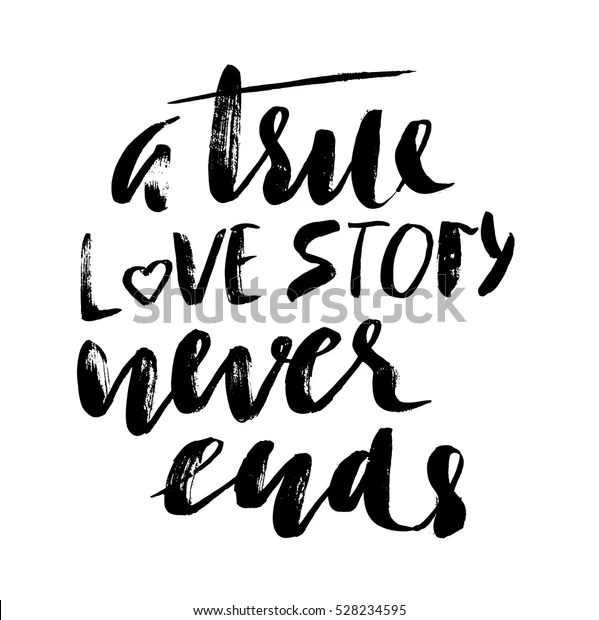 Download True Love Story Never Ends Brush Stock Vector (Royalty ...