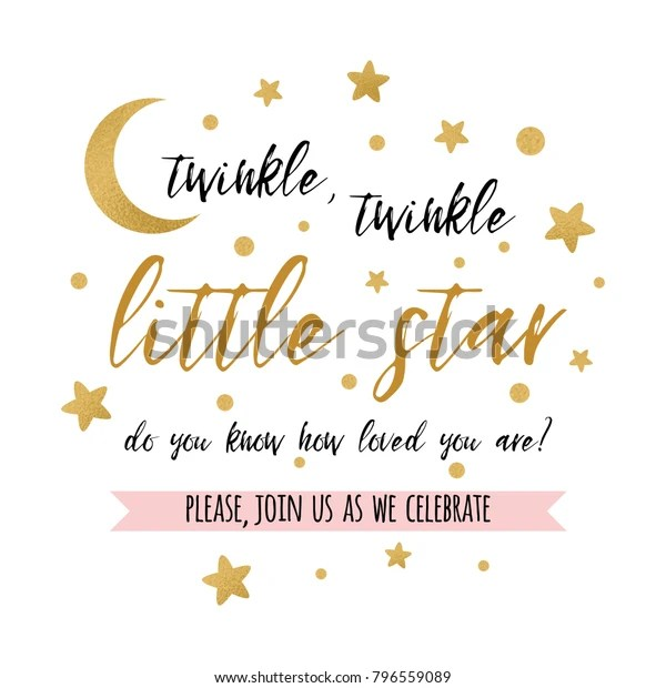 https www shutterstock com image vector twinkle little star text cute gold 796559089
