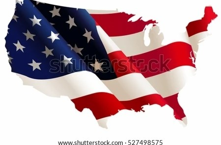 images for usa flag map