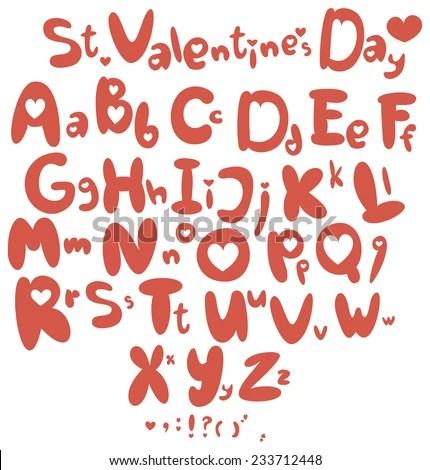 Download Valentines Day Alphabet ABC Love Saint Stock Vector ...