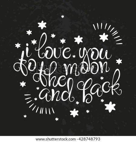 Download Vector Card Love You Moon Back Stock Vector (Royalty Free ...