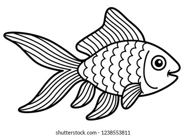 Fish Outline Images Stock Photos Vectors Shutterstock