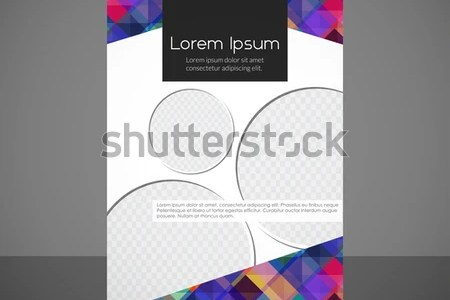 Vector Editable Brochure Background Abstract Creative Stock Vector     Vector editable Brochure Background  Abstract Creative geometric Flyer or  book  Colorful Triangle Pattern