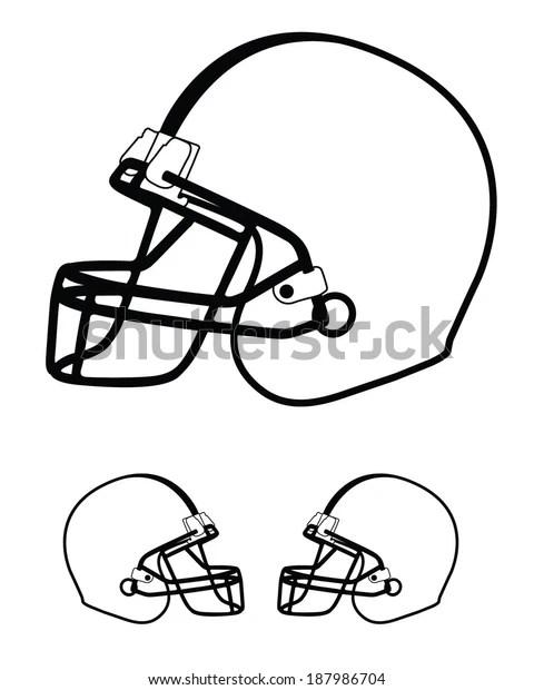 Vector Football Helmet Template Set Stock Vector Royalty