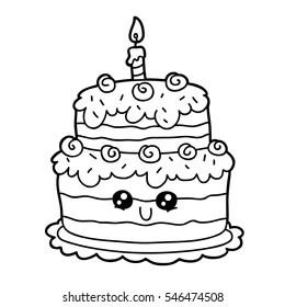 Birthday Cake Coloring Pages Bilder Stockfotos Und Vektorgrafiken Shutterstock